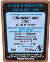 Picture of Bunnahabhain 11yo 2003/2014 SV for The Bonding Dram